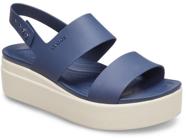 Crocs Brooklyn Low Wedge Zapatillas Mujer, azul/blanco